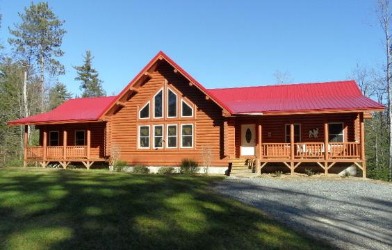 Log home for Affordable home additions